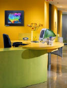 Place WeatherFrame in your reception area to let employees and customers know what to expect...